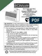 Ventless Propane Heater Manual