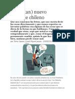 El No Tan Bueno Lenguaje de Los Chilenos
