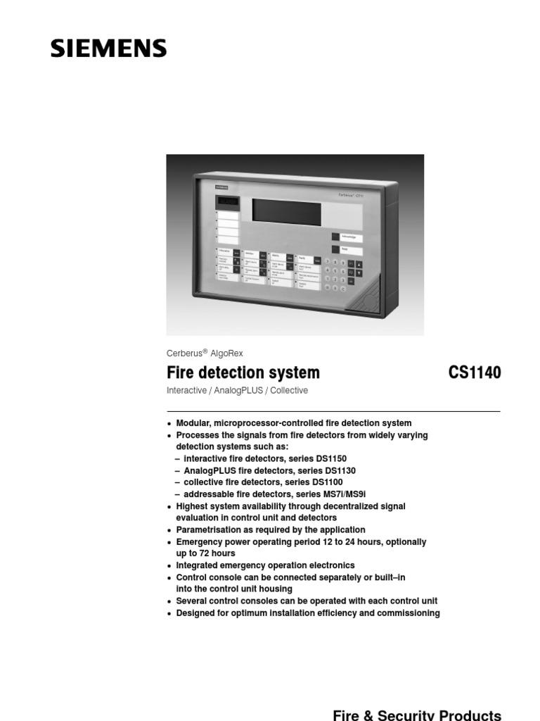 fire cs1140 manual sensor detector radio rh scribd com