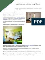 Exquisito servicio y negocio acerca reformas integrales de pisos Valladolid
