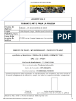 Impresión de Formato Apto Para La Prueba
