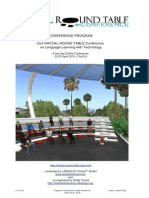 Virtual Round Table Conference Program