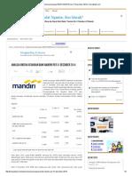 Analisa Kinerja Keuangan BANK MANDIRI Per 31 Desember 2014 _ KinerjaBank