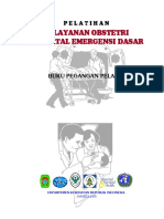 Pelatihan Pelayanan Obstetri Neonatal Emergensi Dasar