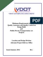 Minimum Requirements for QA-QC - January 2012