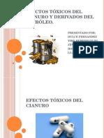 Efectos Tóxicos Del Cianuro y Derivados Del Petróleo.
