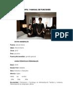 Perfil y manual de Funciones
