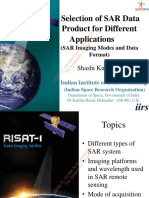 2. Selection of SAR Data Product for Different Applications