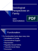 Sociological Perspectives on Family