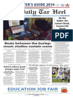 The Daily Tar Heel for March 9, 2016