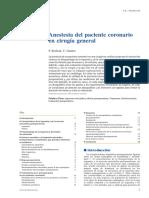 Anestesia Del Paciente Coronario