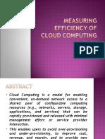 Measuring Efficiency of Cloud Computing