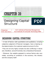 Ch 20 Designing Capital Structure