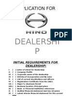 Dealership Requirement