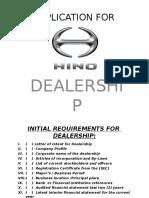Dealership Requirement