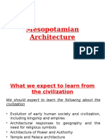 Mesopotamia Architecture A