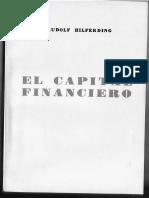 6.Hilferding, Rudolf. El Capital Financiero. Capítulos Xvi, Xvii y Xviii-1