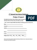 Iron Horse Challenge Form
