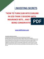 Soccer Investing Secrets