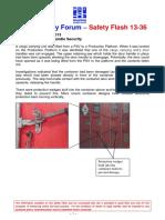 CCU Door Handle Security