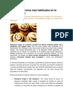 Los Cinco Errores Ms Habituales en La Alimentacin