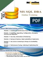 Microsoft SQL Server Online Training @ Maxonlinetraining
