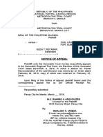 NOTICE OF APPEAL. (G.T. RECABAR. (MTC 2-MANILA-A).doc