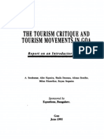 The Tourism Critique and Tourism Movements in Goa