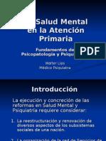 La Salud Mental en la Atención Primaria