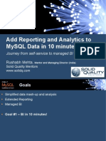 Add Reporting and Analytics to MySQL in 10 minutes