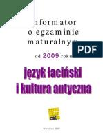 Język łaciński 2009