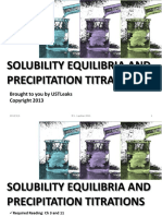 Solubility Equilibria and Precipitation Titrations