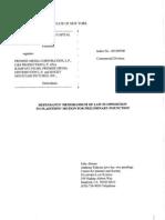 Premise Media reponse to EMI Blackwood et al. v Premise Media et al.
