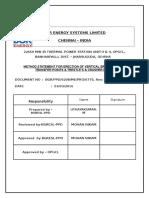 Method Statement for CHP Bracing