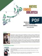Folleto Nuevos Fondos 2015-2016