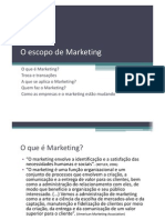 O Escopo de Marketing