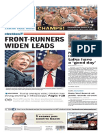 Asbury Park Press front page Wednesday, March 9 2016
