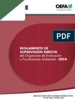 REGLAMENTO DE SUPERVISIÓN OEFA