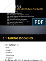Chapter 6 - The Service Sequence (Table Service)