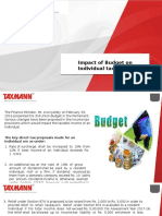 Impact of Budget on Individual Taxpayers