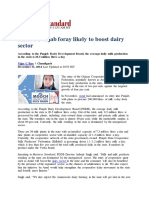 Amul's Punjab Foray Likely to Boost Dairy Sector