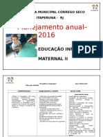 Plano Anual 2016-Maternal
