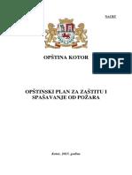 Plan Zastite Od Pozaranacrt 2015