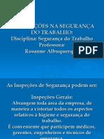 AS INSPEÇÕES NA SEGURANÇA DO TRABALHO