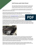 Teknik Membeli Mobil Pertama pada Dealer Resmi