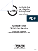 CRISC Application 2015 and Later