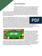 Judi Poker Online Yang Membuahkan