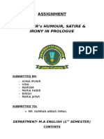 Assignment M.a English (1st Semester- Group 4) , Asnia Munir, Benish, Maria Jafar, Maria Habib, Hina , Mariyam Naseem, MICROSOFT OFFICE 2013 FILE