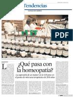 ¿Qué sucede con La Homeopatía?
