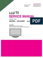 Service Manual LCD TV LG 22LG30R-LP81K-MFL42305403